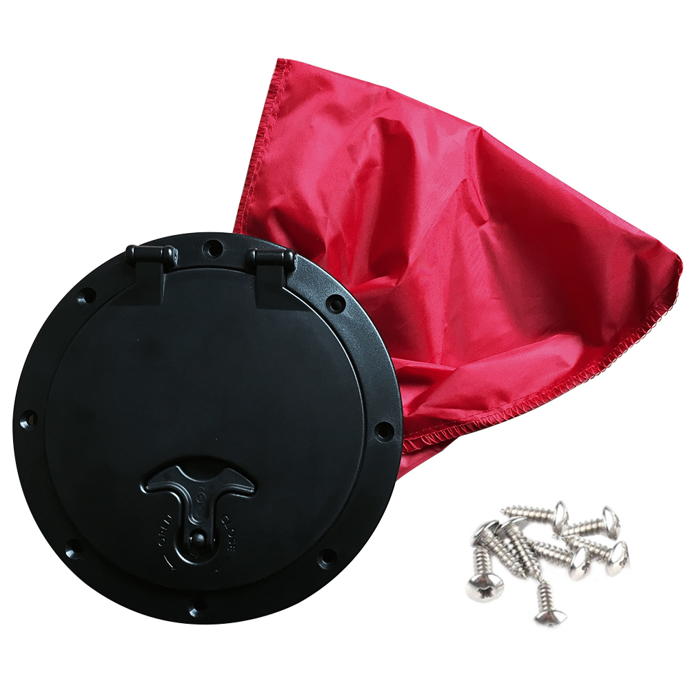 6 Inch Accessories Hatch Cover Durable ABS Marine Screws Easy Install With Red Bag Deck Plate Kayak Round Boat