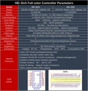 Image 4 - Carte de contrôle de HD D15 rvb asynchrone Led Huidu meilleur partenaire daffichage de LED moyenne