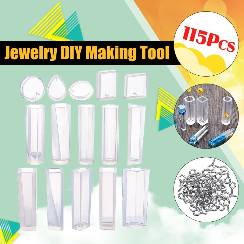 Resin Craft Tool Silicone Mold DIY Mould for Earrings Pendant Necklace Making