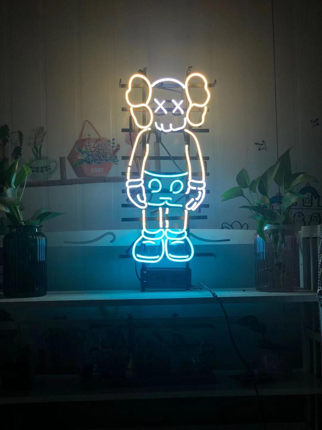 Customized XX Neon Sign  Light  Neon Light Real Glass Lamp For Home Bedroom Pub Hotel60cm