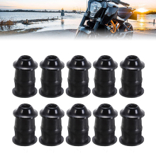 Mayitr 10pcs/Set M5 Bolts Motorcycle Metric Rubber Well Nuts Windscreen Fairing Cowl Universal For Windshield Accessories