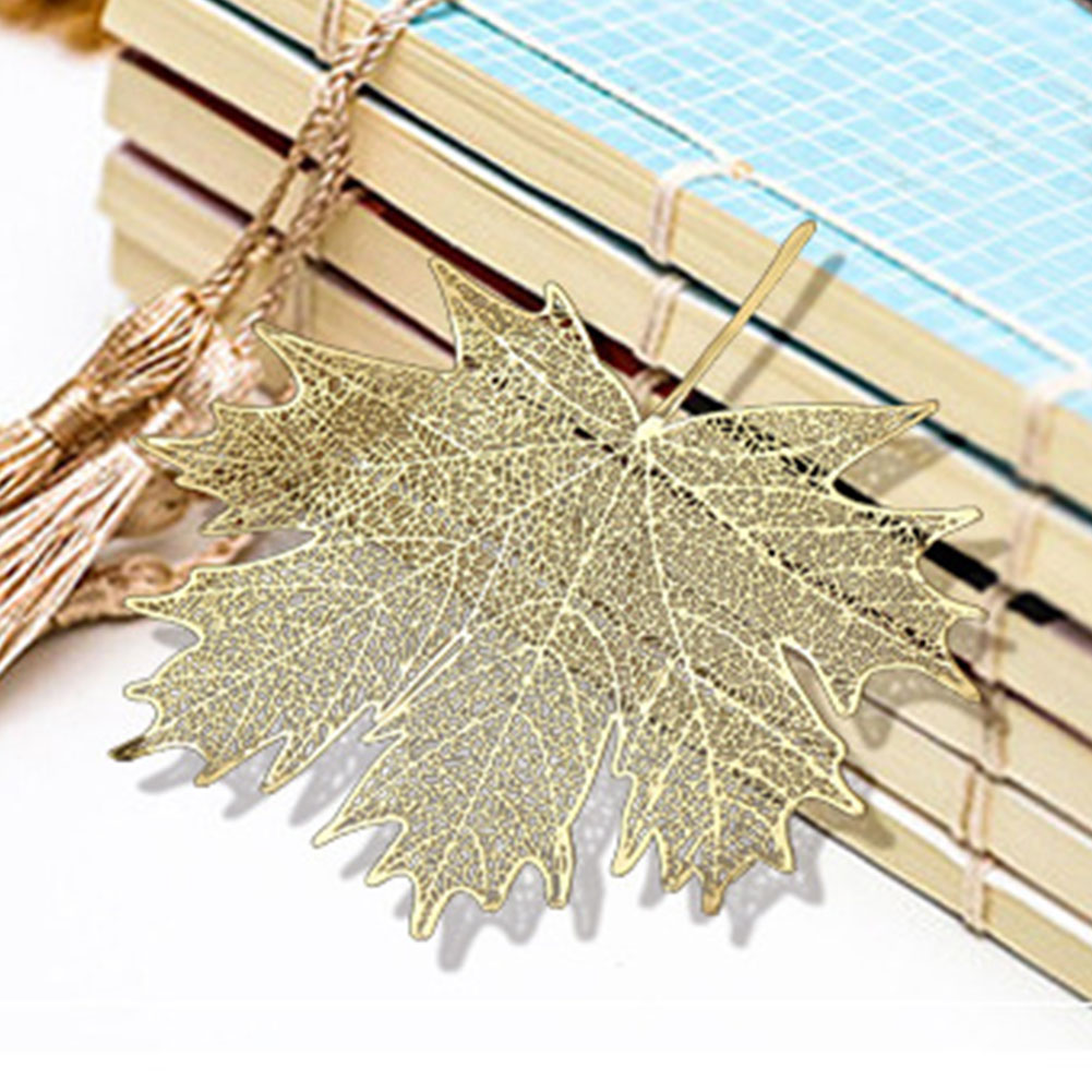 Stationery Bookmark Students Copper Sycamore School Mini Maple Leaves Gifts Retro Exquisite Metal Structure DIY Office Vintage