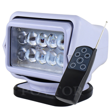 Reflector LED de 7 pulgadas con control remoto, 12 a 24V, 50W, luz giratoria para camión, todoterreno, SUV, barco marino