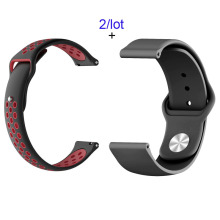 22mm Silicone Bracelet Band For Xiaomi Huami Amazfit GTR 47mm Pace Stratos Watch Strap For Samsung Gear S3 Galaxy 46mm Watchband