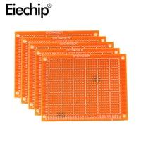 10 teile/los Universal PCB Board 7x9 Diy Prototyp Papier Printed Circuit Board Panel 70x90mm Einzigen seite Elektronische Löten Bord-in Einseitige Leiterplatte aus Elektronische Bauelemente und Systeme bei