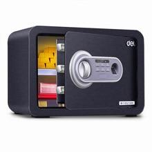 Deli Сейф маленькая Бытовая мини-коробка безопасности офисный отпечаток пальца ключ безопасности Противоугонный Сейф-прикроватный столик