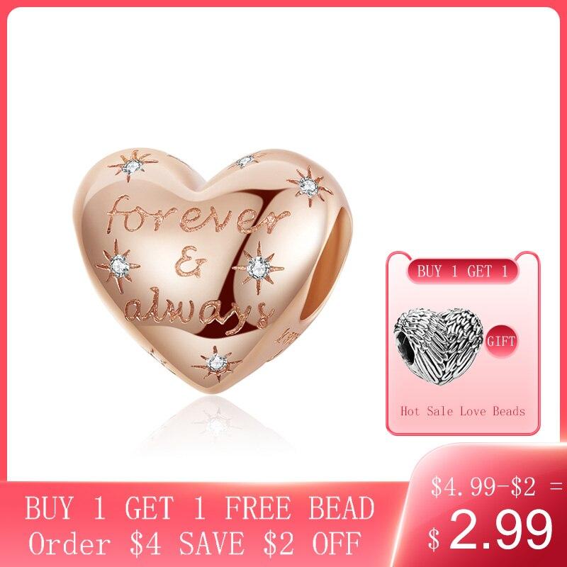 CodeMonkey Dazzling Heart Shape Beads For Women Jewelry Making Forever Love Charm 925 Sterling Silver Charm Bracelet Bijoux 1223