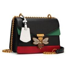 Taschen Für Frauen 2021PU Leder Bee Handtasche Ketten Schulter Messenger Tasche Damen Schulranzen Sling Luxus Marke Handtaschen Designer Tasche