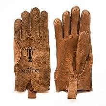 Перчатки мужские из натуральной кожи винтажные мотоциклетные