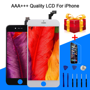 Image 1 - Haute Qualité AAA LCD Pour iPhone 6 6S 7 8 Plus Assemblée de Numériseur Décran Daffichage À CRISTAUX LIQUIDES De Remplacement Pantalla Pour liphone 6S Plus LCD