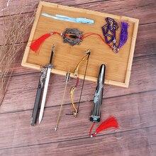 Основатель диаболизма МО дао ЗУ Ши брелок флейта кнут оружие Модель брелки коллекция меч в ножнах ювелирные изделия