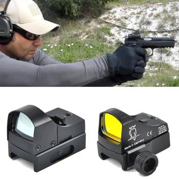 D III celownik czerwona kropka luneta celownicza Micro Dot Reflex holograficzna optyka celownicza lunety myśliwskie karabin Airsoft Mini kropka tanie i dobre opinie BESTSIGHT Pistolet