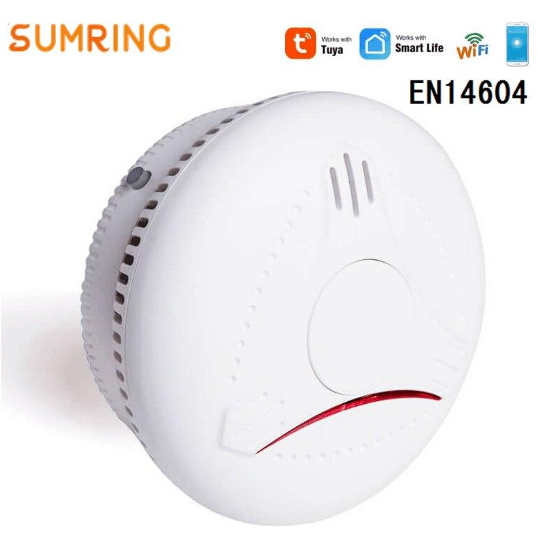 Wireless WIFI Smoke Detector Smartphone APP Controlled Smoke Alarm Sensor Battery Operated For House Home Fire Alarm
