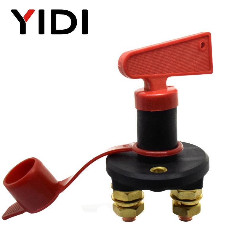 Car Battery Power Switch Disconnect Isolator Circuit Breaker Main Switch Kill Cut-off Switch Insulated Rotary Switch Key Truck