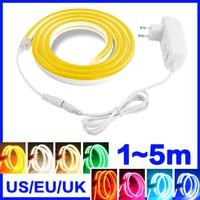 LED Streifen Flexible Neon licht 12V Wasserdicht Luces led Seil Dimmen Raum Bar Dekoration Farbe Warm Weiß Gelb Rot grün Blau