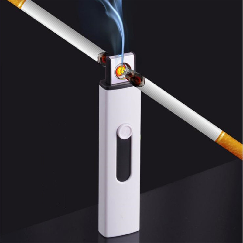 USB Electric Arc Lighter For Cigarette Smoking Tungsten Turbo Plasma Lighters Windproof Electronic Novelty Encendedor Gift
