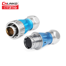 Cnlinko Outdoor Automotive IP65/IP67 Plug Cable Connect LED Power Connectors 3 4 10 12 19 24Pin Signal Wire Wiring LED Connector