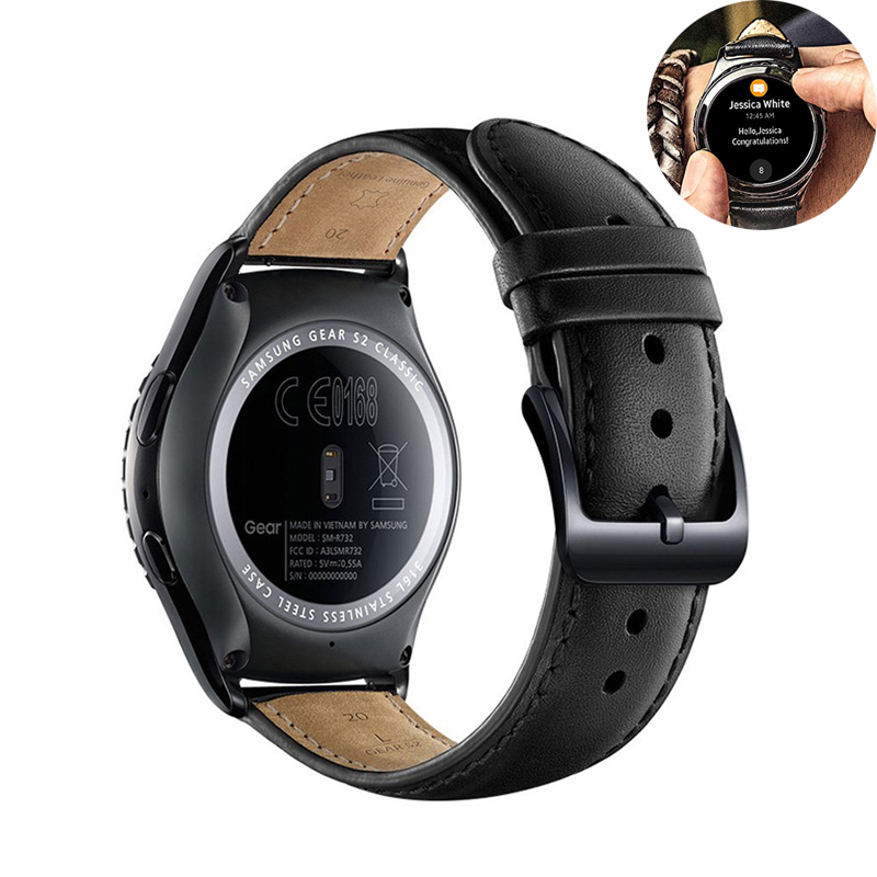 22mm/20mm Leather Strap For Samsung Gear S2 Classic S3 Frontier Galaxy 46mm/42mm Band Huawei Watch Gt 2 Amazfit Bip Bracelet