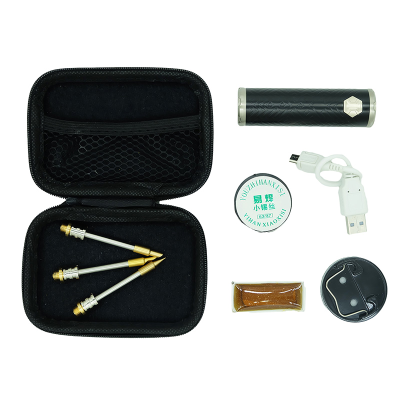 New Portable 80W USB Cordless Soldering Iron Kit With Tip 3000mAh Battery Chargable Repair Tool