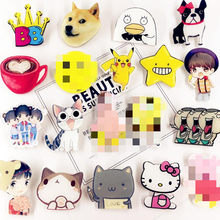 1 Pc Anime Broche Hond Kat Eend Kraag Broches Jeans Shirt Handtas Badges Op Rugzak Pins Cartoon(China)