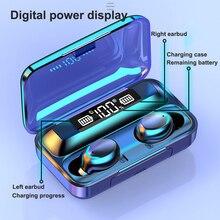חדש 2200mAh LED Bluetooth אלחוטי אוזניות אוזניות אוזניות TWS מגע בקרת ספורט אוזניות רעש לבטל Dropshipping עבור F9