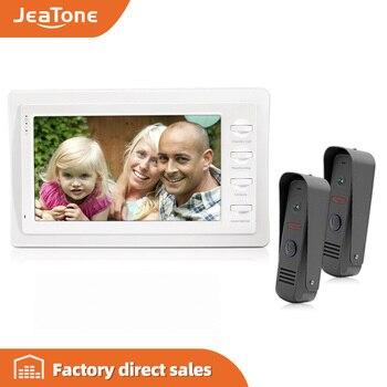JeaTone 7 pulgadas TFT tecla táctil 1200TVL cámara de vídeo puerta teléfono timbre de puerta casa sistema de intercomunicación de seguridad Monitor IR visión nocturna