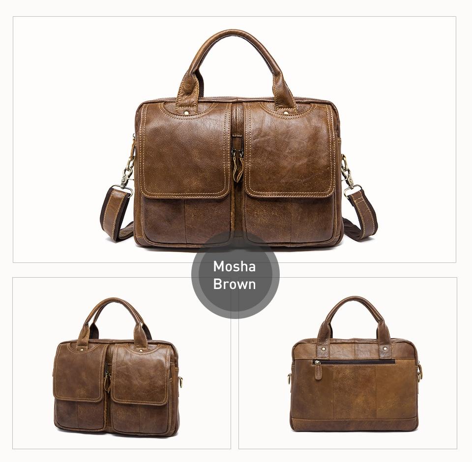 H26ab48199d1a4ee282a4e115fa8bb241S MVA men's bag/briefcase leather office/laptop bag for men's genuine leather bag business document man briefcase handbag 8002-1