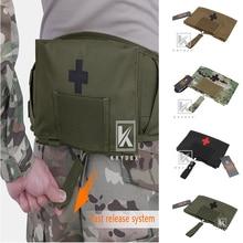 """KRYDEX tactique LBT9022 joint trousse médicale pochette 5.5 """"* 9"""" libération rapide modulaire MOLLE ceinture extérieure durgence sac de rangement"""