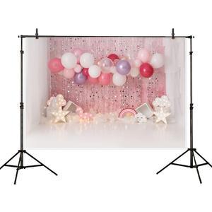 Image 3 - Allenjoy עוגת לרסק 1st יום הולדת צילום רקע קרח קרם בלון יילוד ורוד תמונה רקע תינוק תא צילום שיחת וידאו