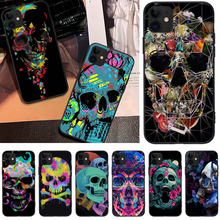 Reayou Skull tide avant-garde rock Black TPU Phone Cover For iPhone 5C 6 6S 7 8 plus X XS XR XS MAX 11 11 pro 11 Pro Max(China)