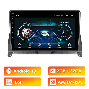 Eastereggs 9'' 2 din Car Multimedia Player Android 10 RDS DSP Wifi GPS For Mercedes Benz C Class 3 W204 S204 2006 - 2011 image