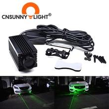 CNSUNNYLIGHT LED Car Laser Foglamp Truck Infrared Strong Light 100MW Moto Laser Cannon Green Decoration Refitted Radium Lamp 12V