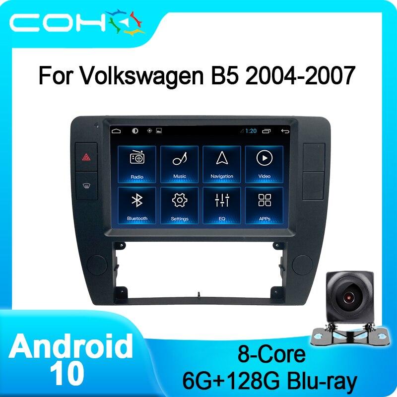 Автомагнитола на Android 10 с GPS-навигацией для Volkswagen B5 2004-2007