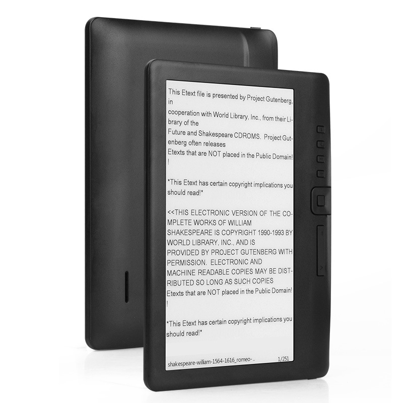 7inch Electronic ink Screen E book reader HD eye safe display digital players with global Multi language Support micro sd