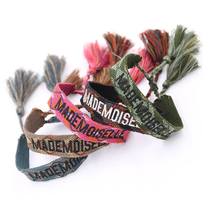Handmade Weave Braided Bracelet Women Summer Vintage Rope Ethnic Friendship Bracelets Adjustable Embroidery Bracelet