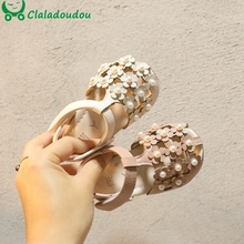 Sandals Baby Dress-Shoes Wedding Infant Pink Brand for Party Closed-Toe Women Flats Solid