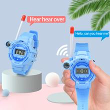 Zegarek Walkie Talkie zabawki dla rodziców i dzieci bezprzewodowy dialogu otrzymać telefon zwrotny od Two Way Radio moda duża odległość otrzymać telefon zwrotny od interaktywne zabawki dla dzieci 2 sztuk tanie tanio CN (pochodzenie) 4-6y Z tworzywa sztucznego Walkie Talkies Intercom NONE Unisex
