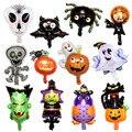 Хэллоуин, тыква, Череп, волшебник, странные воздушные шары, карнавал, призрак, фестиваль, вечерние украшения для бара, Хэллоуин, алюминиевая ...
