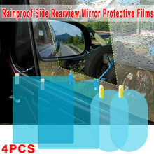 PET+Nano Coating Material 4pcs Car Rearview Mirror Side Window Glass Anti-Fog Film Rain Protection Durable And Practical