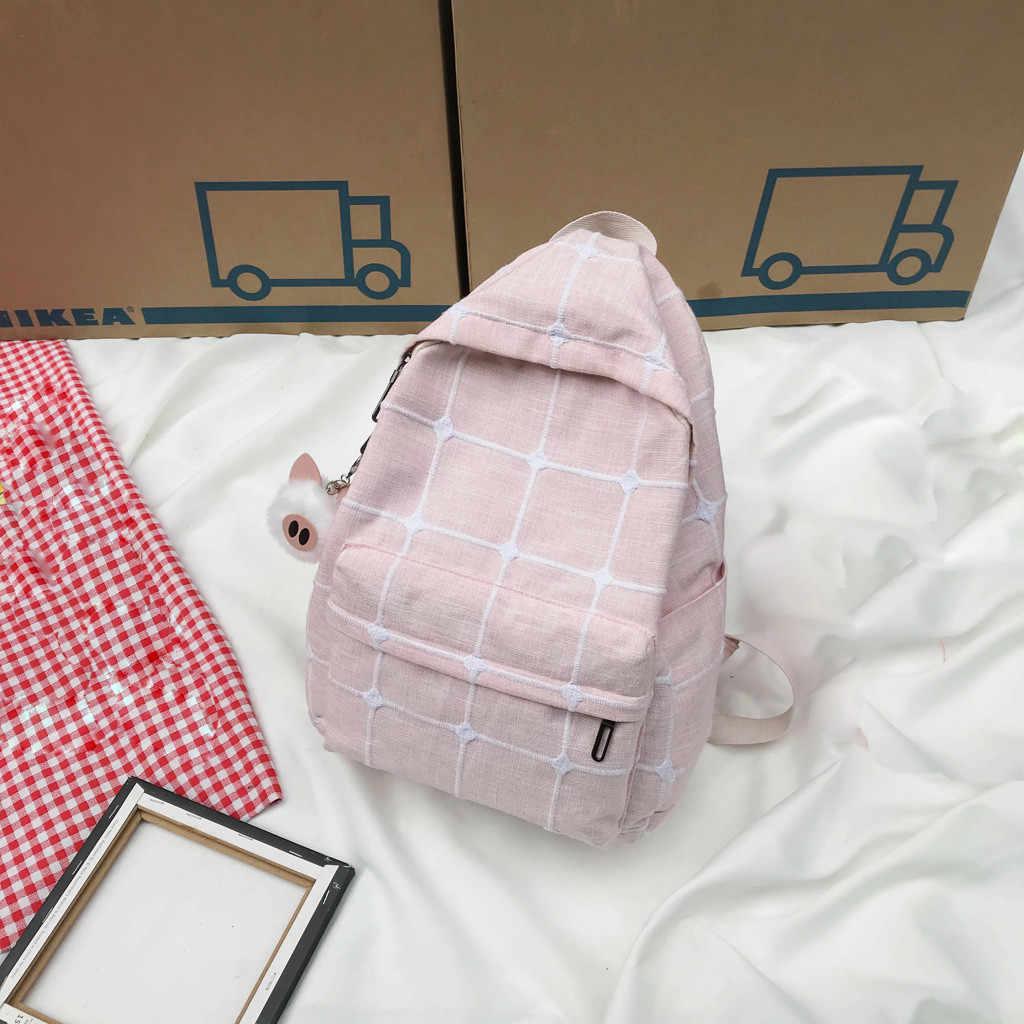 Женские школьные рюкзаки для девочек большой емкости, тканевый модный рюкзак для детей, сумка, рюкзак, маленькая свежая сумка #731