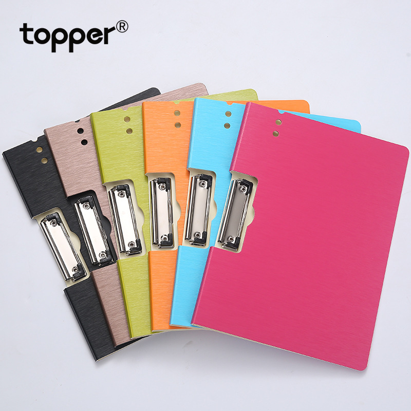 A4 File Folder Board Folder A4 PP Thick File Writing Pad File Folder Clip File Waterproof Business Contract Folder Officesupplie
