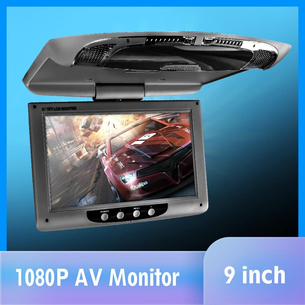 9 дисплей с креплением на крышу мультимедиа TFT LCD автомобильные мониторы видео вход радио флип вниз AV монитор для автомобиля аудио Android DVD пл...