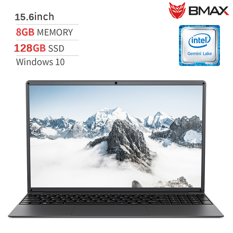 BMAX S15 Laptop 15.6 Inch Intel Gemini Lake N4100 Intel UHD Graphics 600 8GB LPDDR4 RAM 128GB SSD 178° Viewing Angle Notebook