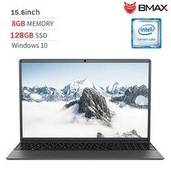 Bmax S15 Laptop 15.6 Inch Intel Gemini Lake N4100 Intel UHD Grafis 600 8GB LPDDR4 Ram 128GB SSD 178 ° Sudut Pandang Notebook