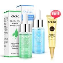 Hyaluronic Acid Serum Green Tea Oil Control Moisturizing Essence Face Cream Shrink Pores Collagen Eye Skin Care