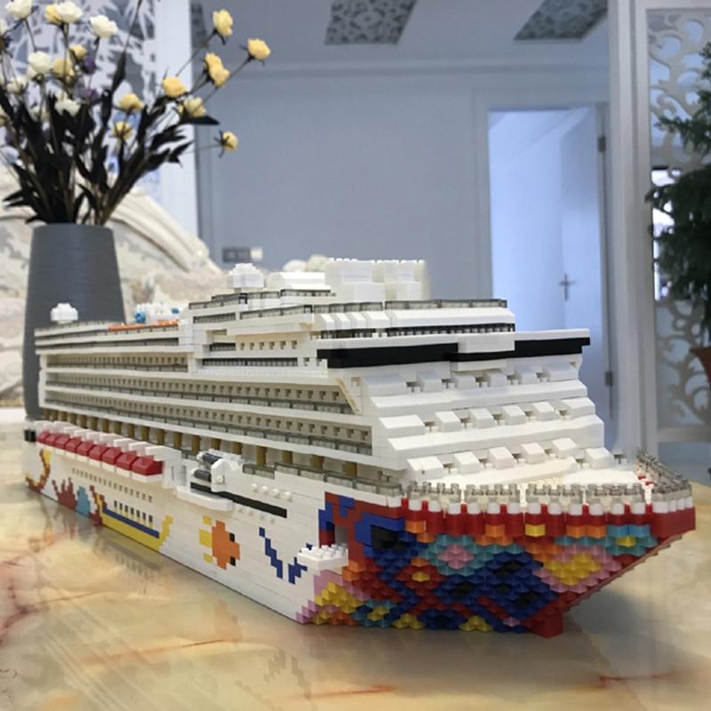 YZ Architecture Burj Al Arab Hotel 3D Model DIY Mini Diamond Blocks Building Toy