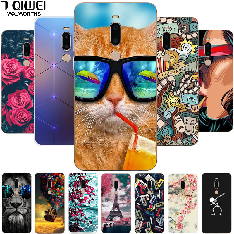 For Meizu M8 Case Cover Soft TPU Print Tiger Silicone Case For Meizu M8 Case M 8 8M Para Protective For MeizuM8 5.7'' Hoesje