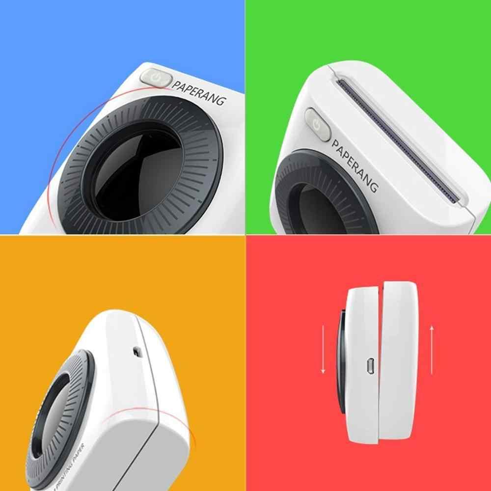 PAPERANG P2 Mini impresora Bluetooth portátil de bolsillo, foto de teléfono inalámbrica HD, impresora de etiquetas térmicas para Android iOS de teléfono móvil