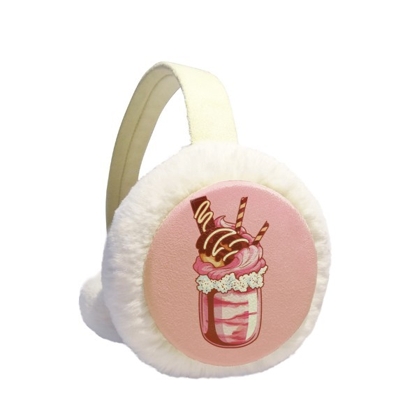 Time for tea Biscuits Chocolate Winter Earmuffs Ear Warmers Faux Fur Foldable Plush Outdoor Gift