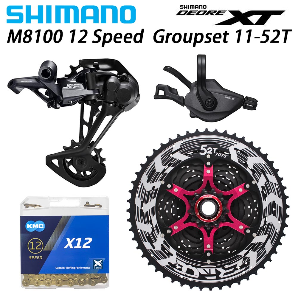 SHIMANO DEORE XT M8100 12-speed Groupset MTB Mountain Bike 12-Speed 52T SL+RD+ZRACE+X12 M8100 shifter Rear Derailleur bike kit image